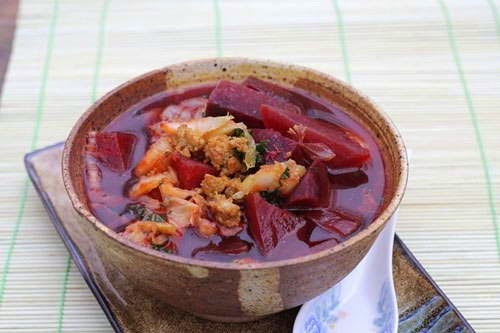 Red Beetroot Soup Recipe - Canh Củ Dền