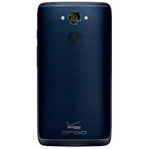 Motorola DROID Turbo in blue (rear)