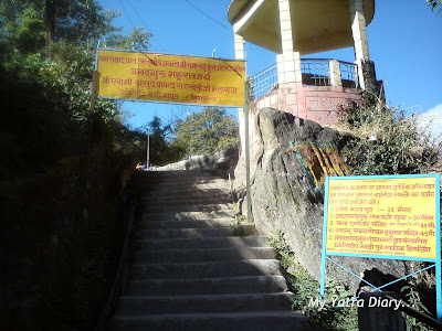 Way to the other temples in Joshimath in Uttarakhand