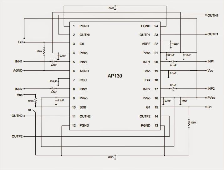 1W Per Channel Stereo Class-D Audio Power Amplifier