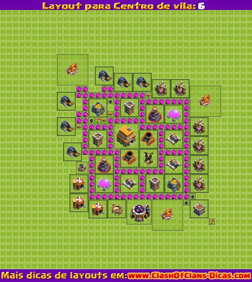 CV 6 Clash of Clans Layout