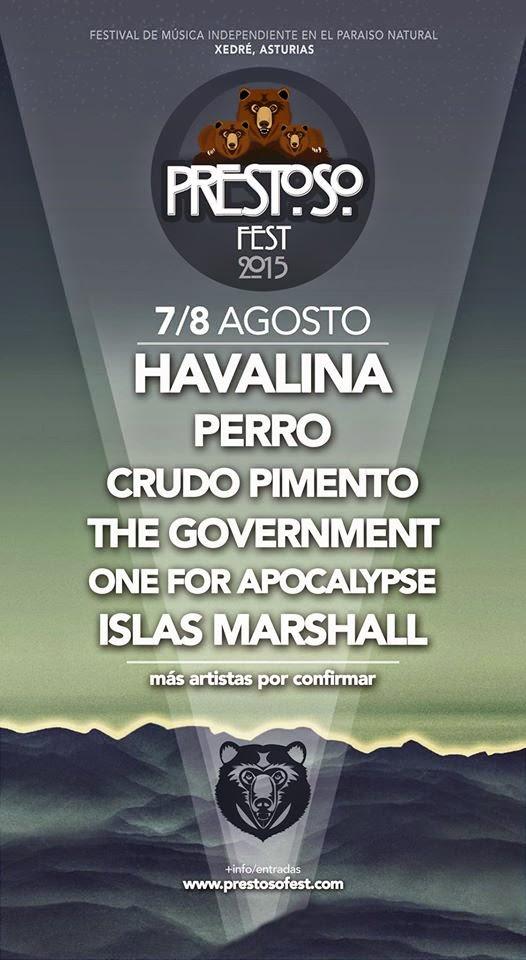 Havalina, Perro, Crudo Pimento y The Government, primeras confirmaciones del Prestoso Fest