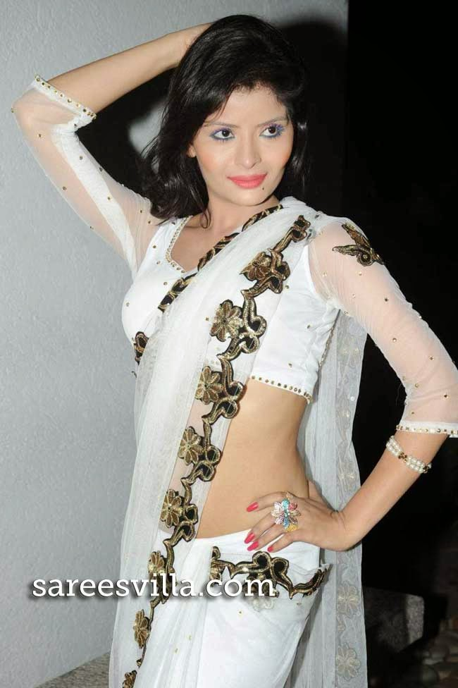 Gehana Vasisth In White Saree