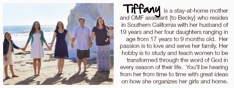 Organizing Made Fun's newest assistant, Tiffany and her family :: OrganizingMadeFun.com