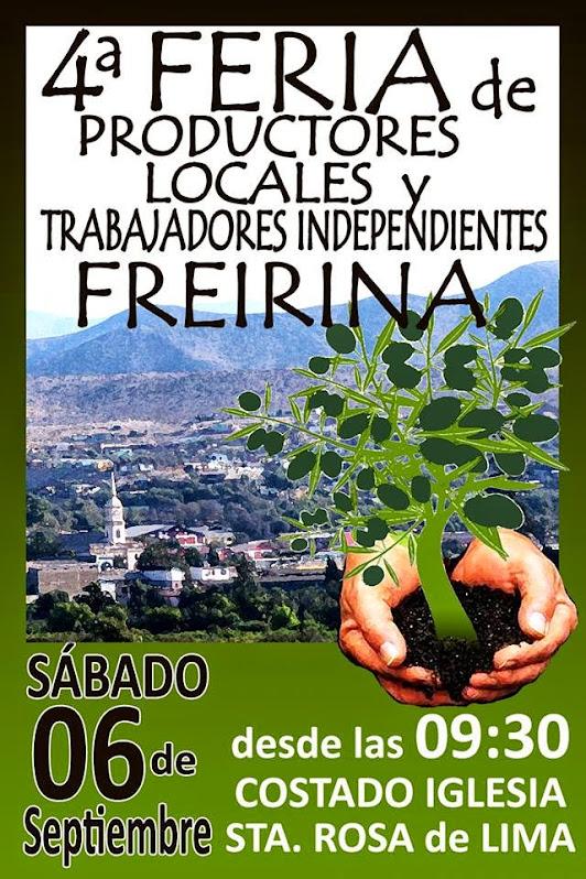 FREIRINA: 4ª FERIA DE PRODUCTORES LOCALES Y TRABAJADORES INDEPENDIENTES