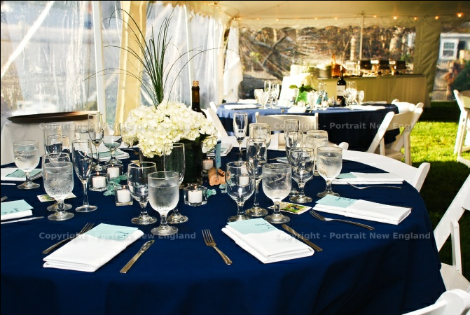 Cape Cod themed wedding place setting