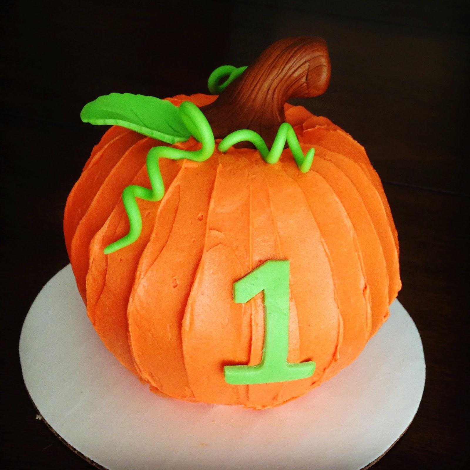 1st Birthday Cake Pumpkin Smash Cake Jadore Gteau