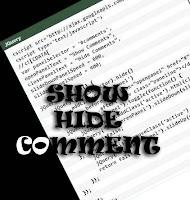 Comen show hide, buka tutu7p komen, komen hide