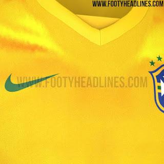 Berita bocoran jersey Brasil home terbaru Copa Amerika 2015