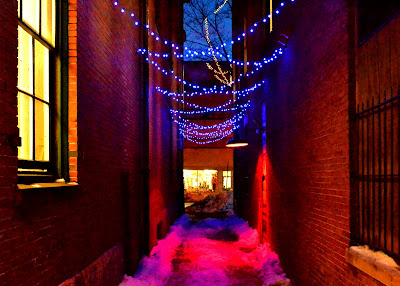 Blue alleyway - City Hall, Salem, MA