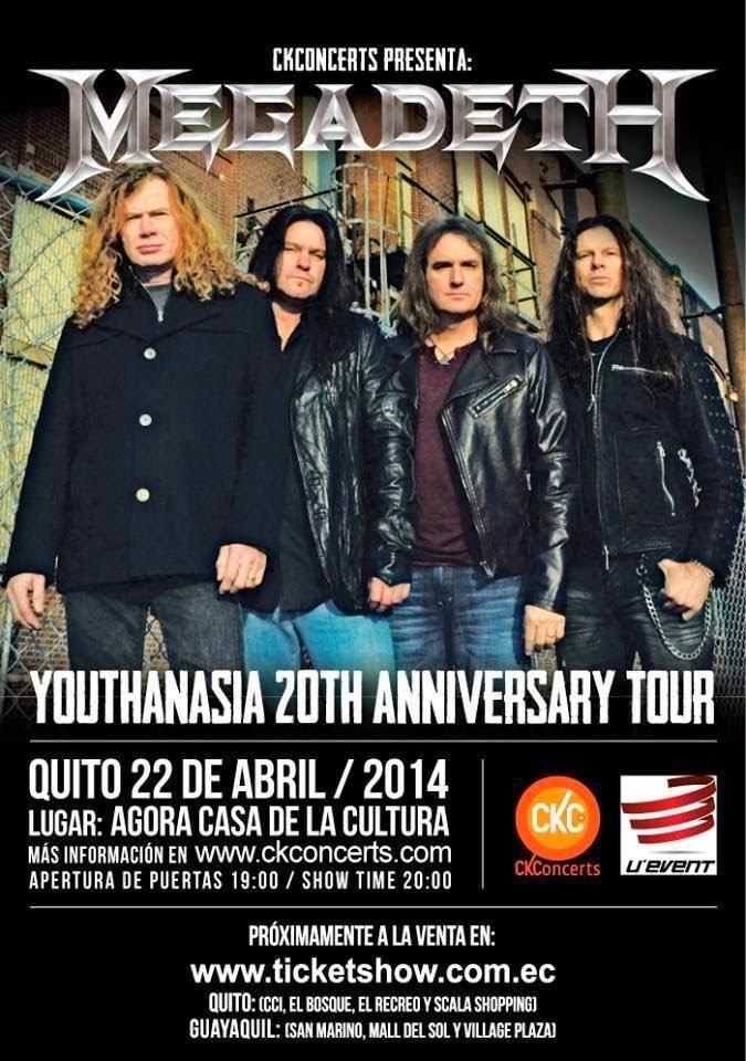Megadeth flyer