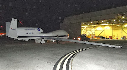 NASA's GLOBAL HAWK COMES OUT OF A HANGER