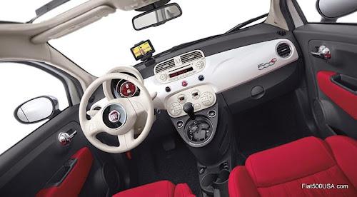 2015 Fiat 500c Cabrio Interior