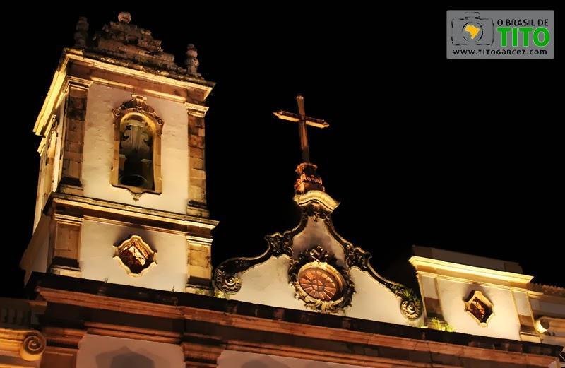 Detalhe da fachada da igreja da Ordem Terceira de São Domingos Gusmão no Centro Histórico de Salvador, na Bahia - Por Tito Garcez em 2013
