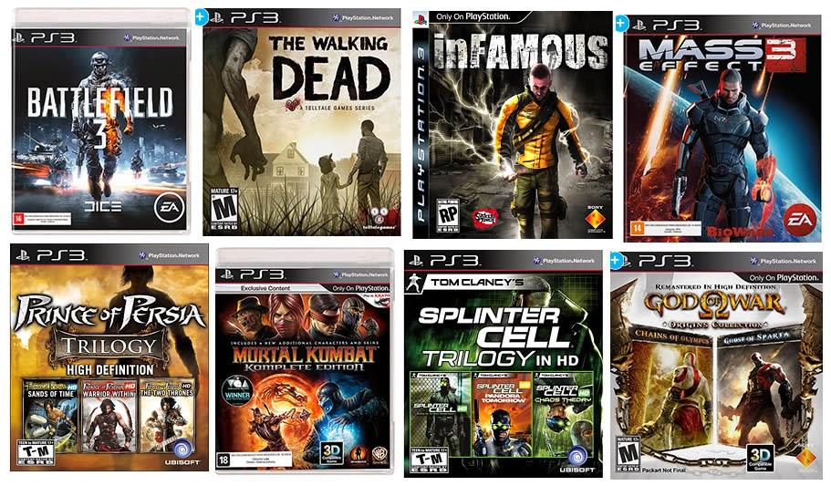 Lista com os melhores jogos para Playstation 3