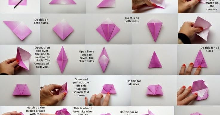 Paper Crafts Origami For Kids Kawasaki Rose Instructions