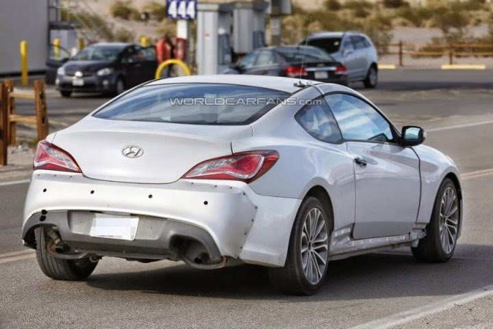 First pictures of the new Hyundai Genesis Coupe 2016
