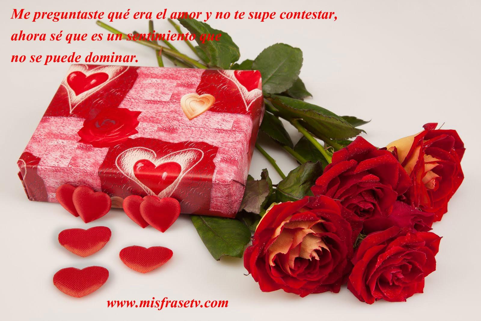 imagen de frases de amor y rosas para el da de san valentin