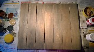 Holzlattenrahmen im Used-Look