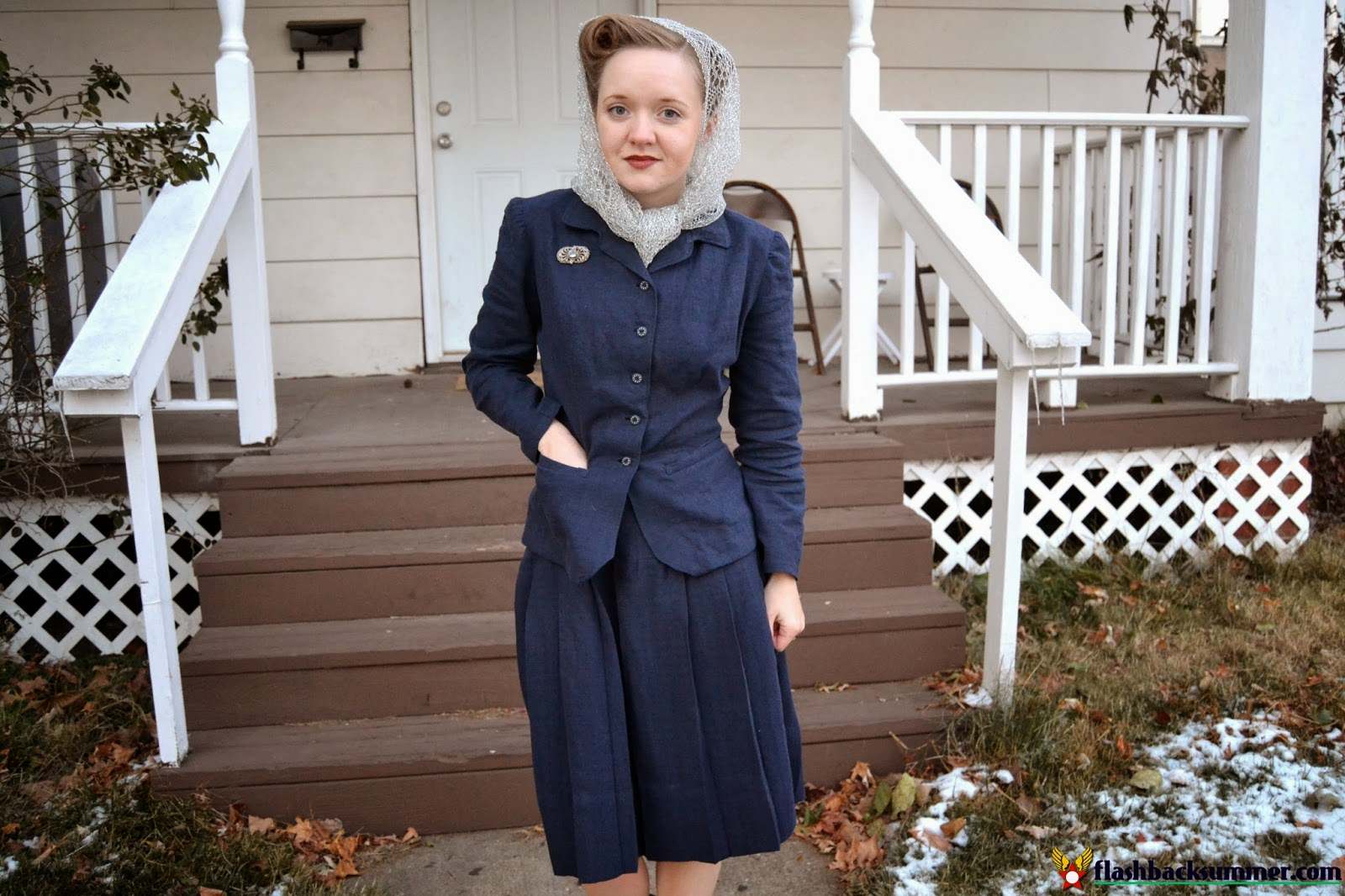 Flashback Summer: My First Me-Made 1940s Suit - Simplicity 4362, Hollywood Pattern 1162