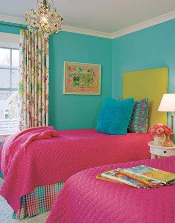 Uma carioca na ro a decora o para quarto de menina for Pink and green kids room