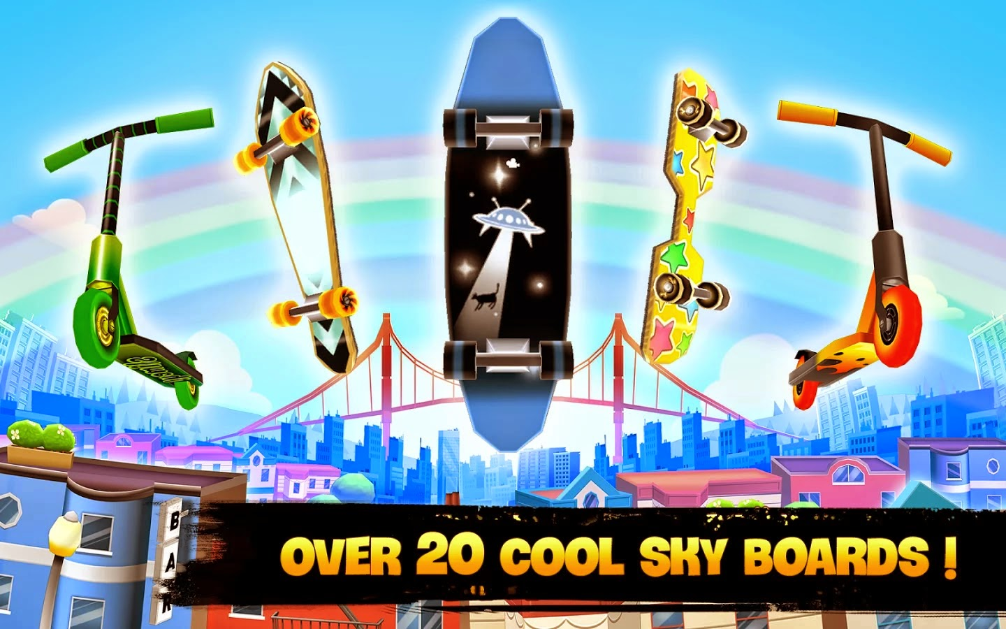 Skyline Skaters v1.3.0 Mod [Unlimited Coins/Cash]