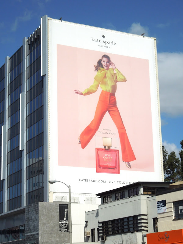Live Colorfully Kate Spade billboard
