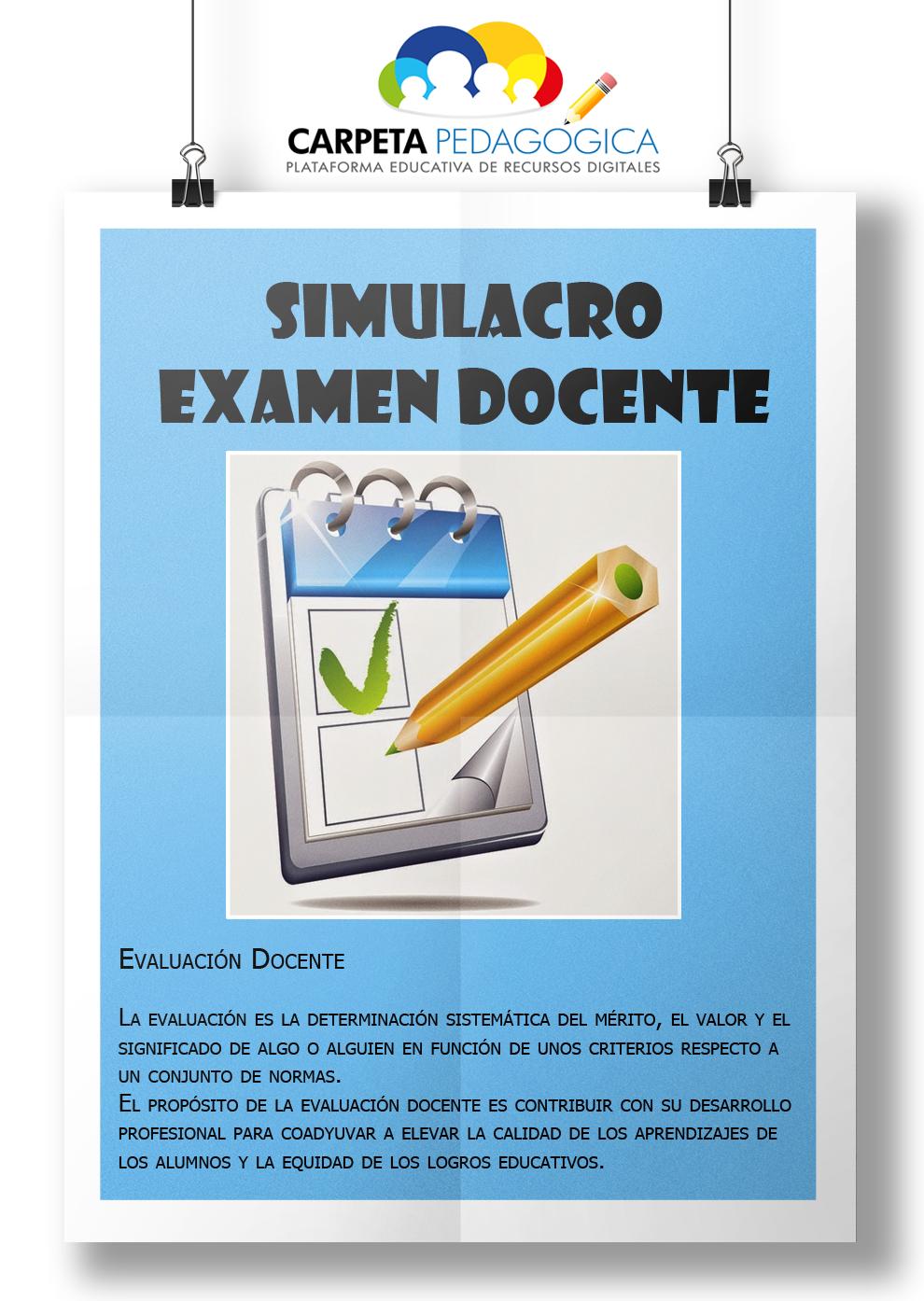 Simulacro examen docente: Conocimientos del estudiante (Cuestionario 1)