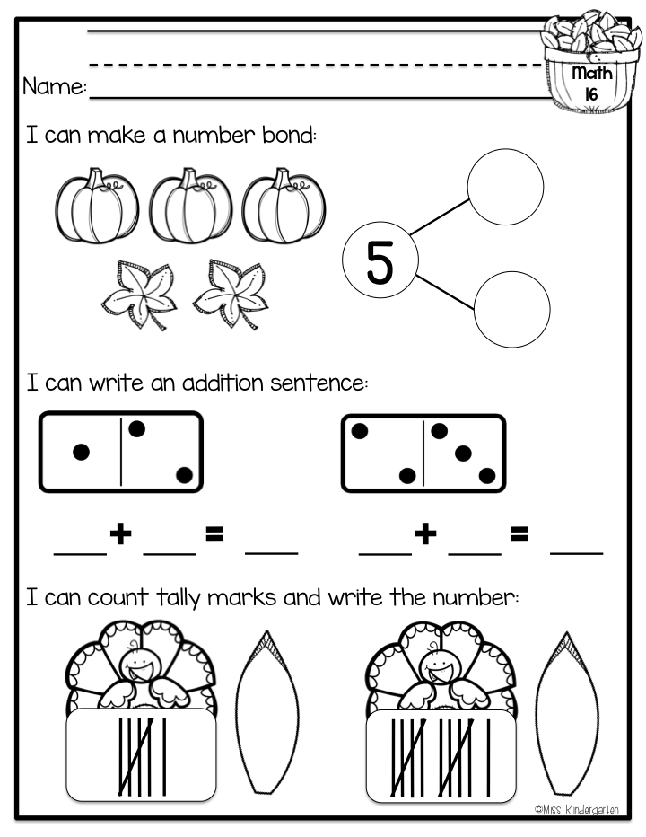 Morning Work Update! - Miss Kindergarten