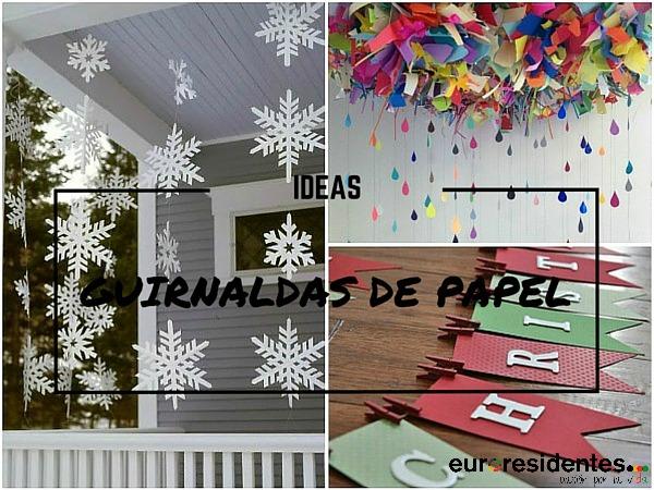 17 Ideas para hacer guirnaldas con papel