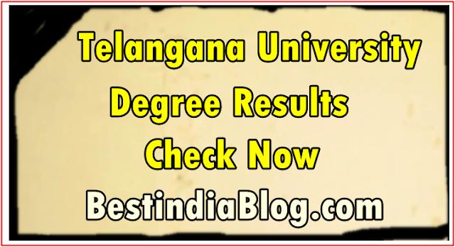 telangana university TU Degree Results