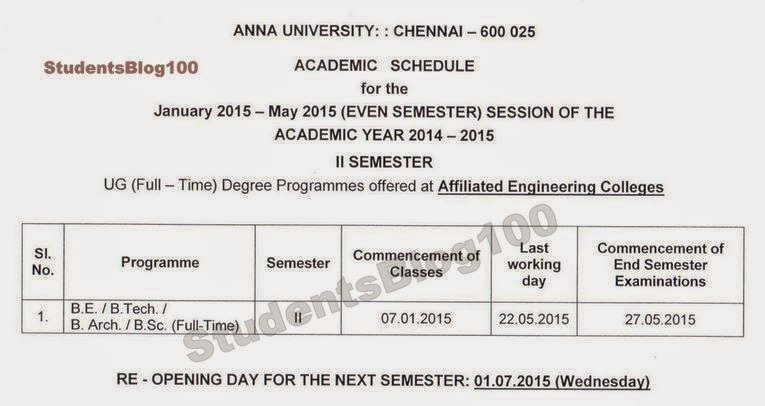 Official Copy For UG 2nd Semester Reopening Date