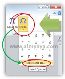 Gambar: Memilih simbol/tanda plus minus