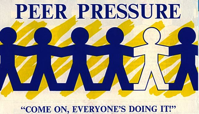 a discussion on the good and bad peer pressure And discuss the youth issues that are most frequently identified at these  conferences in order to  one group discussed positive peer pressure.
