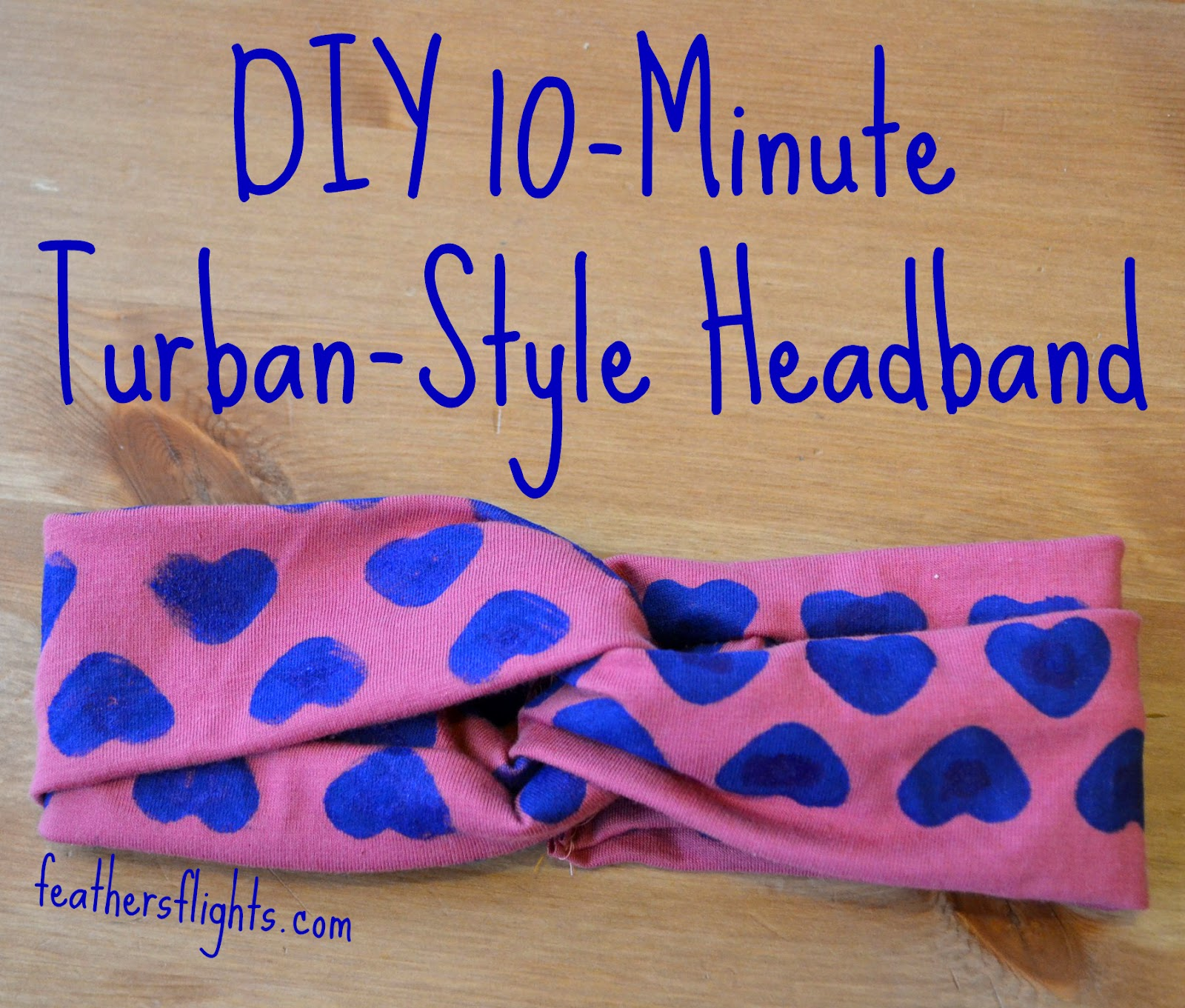 Diy Minute Turban Style Headband Heather Handmade