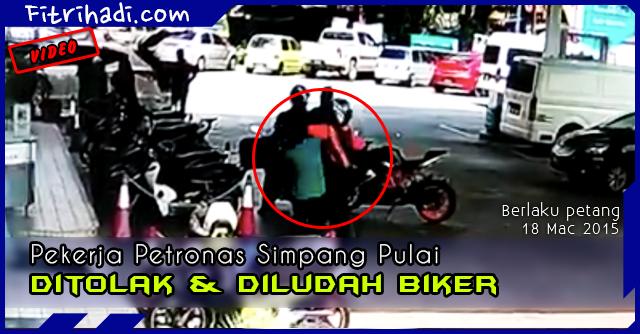 (Video) Biker Tolak Dan Ludah Pekerja Petronas Simpang Pulai 2