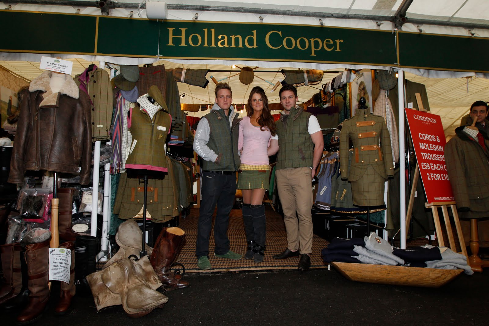 Trade Stands Cheltenham Festival : Holland cooper march