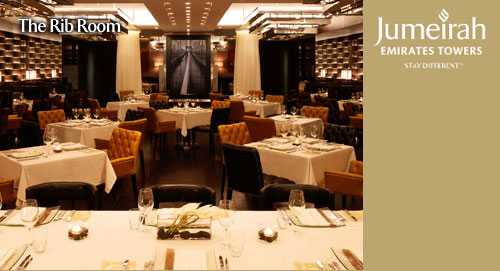 The Rib Room Experience at Emirates Towers
