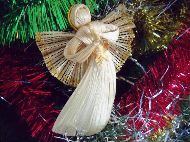 Corn Husk Angel Made in Western Ukraine