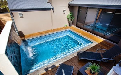 perumahan minimalis kolam renang