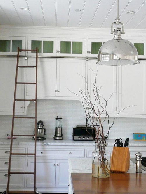 Peonies Brass Library Ladders In The Kitchen And Other