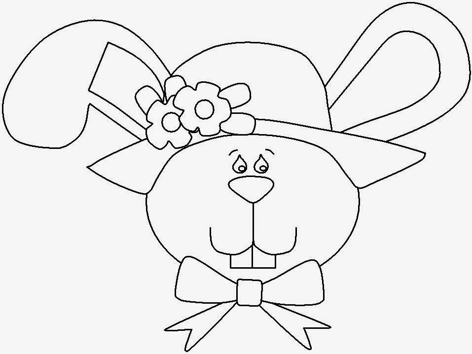 mascara coelha com chapéu para pintar