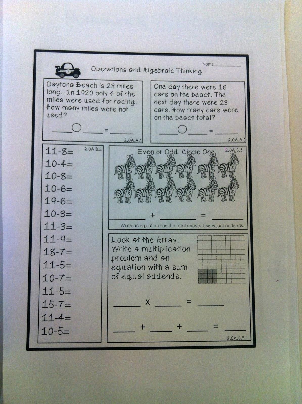 Miss Ratcliff\'s 2nd grade Scientists: Math Homework: 1-17