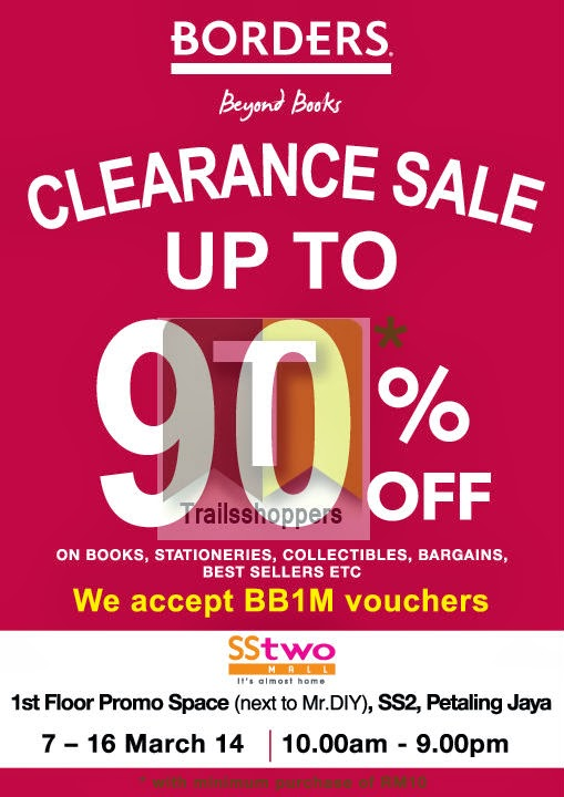 Borders Clearance Sale: 7-16 MAR 2014 BOOKS - Trailsshoppers