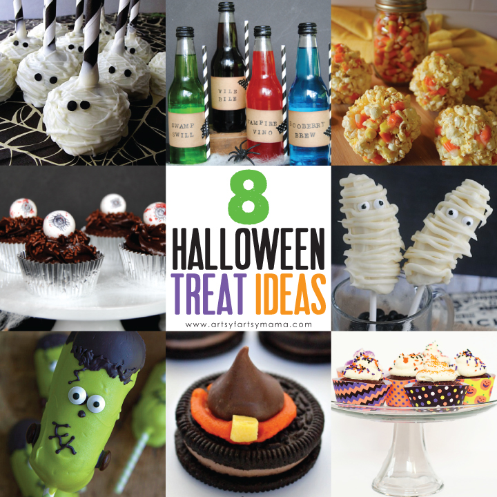 8 Halloween Treat Ideas at artsyfartsymama.com