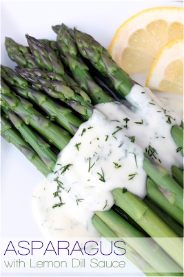 Asparagus with Lemon Dill Sauce