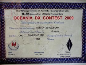 OCEANIA DX CONTEST CW  2009