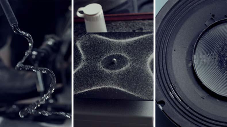 Un video musical hecho enteramente de experimentos para la visualización de sonido