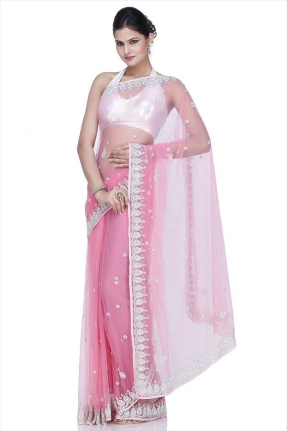 fancy net sarees