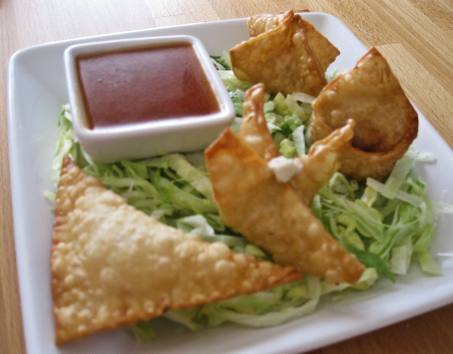 Crab Rangoons (Crab Puffs) With Sweet And Sour Sauce Recipes ...